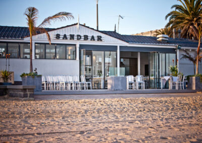 Outside the Sandbar Beach Cafe