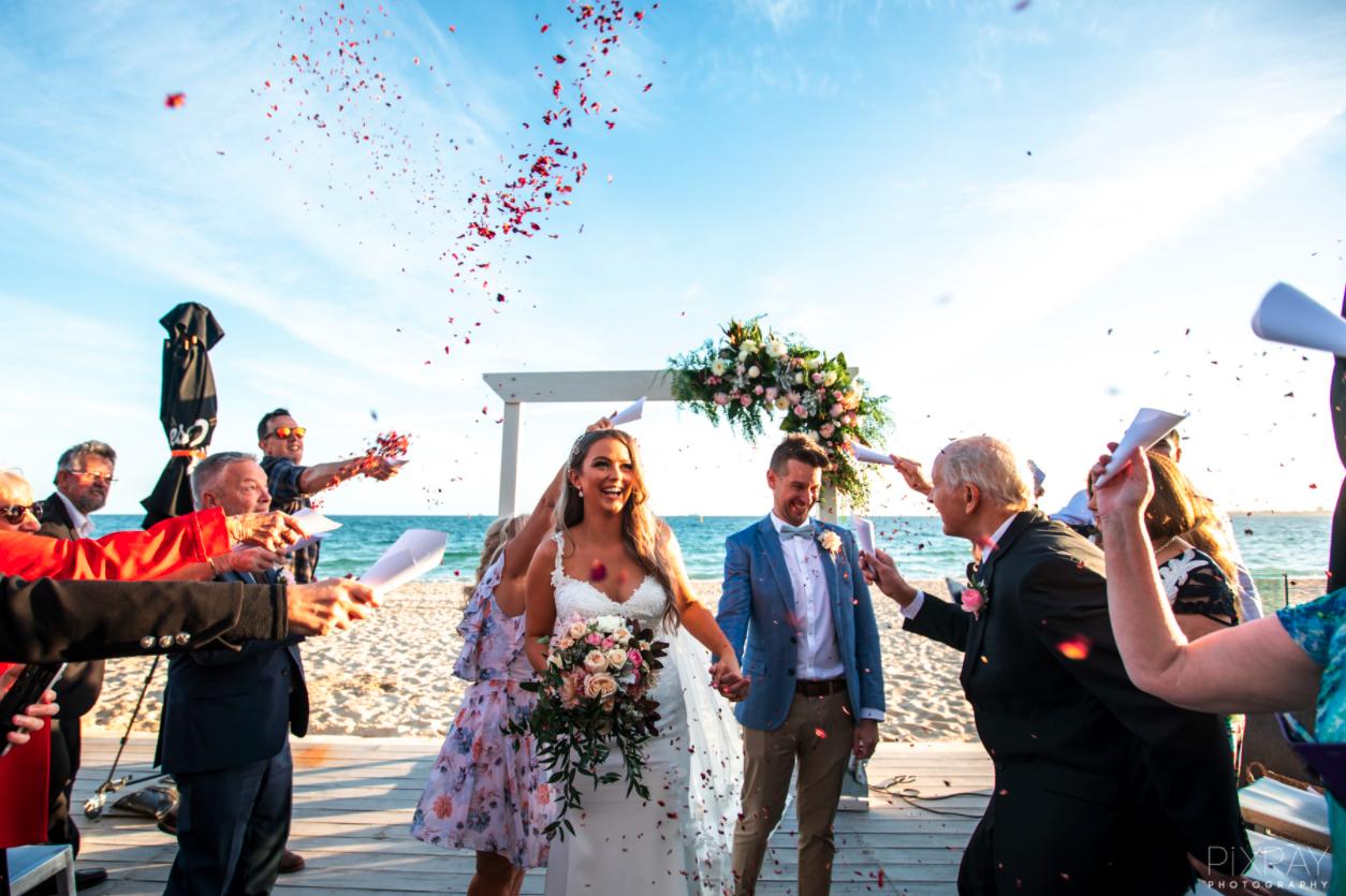 Weddings at Sandbar beach cafe