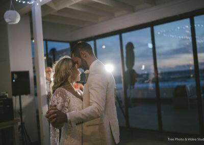 Couple first dance at The Sandbar Beach Cafe