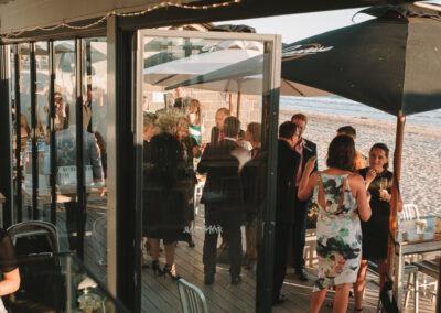 Wedding Guests at The Sandbar Beach Cafe