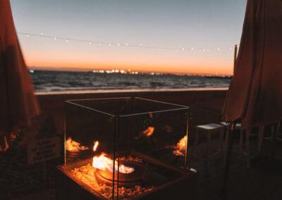 Fire place at The Sandbar Beach Cafe