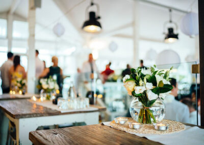 Wedding set up at The Sandbar Beach Cafe